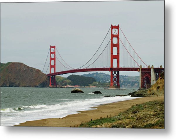 Golden Gate Bridge From Baker Beach Metal Print