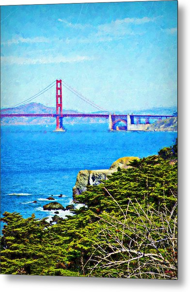 Golden Gate Bridge From The Coastal Trail Metal Print