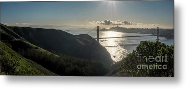 Golden Gate Bridge From The Road Up The Mountain Metal Print