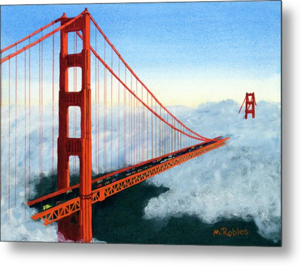 Golden Gate Bridge Sunset Metal Print