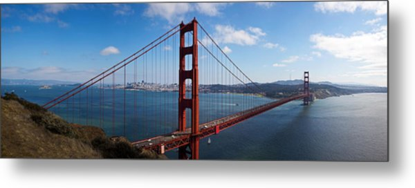 Golden Gate Bridge Viewed From Hendrik Metal Print