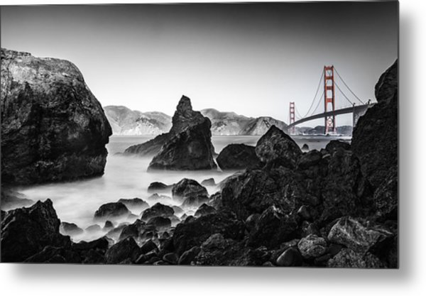 Golden Gate Colour Metal Print