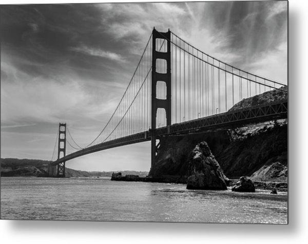 Golden Gate East Bw Metal Print
