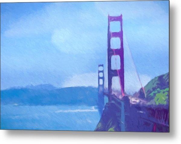 Golden Gate Impressionist Metal Print