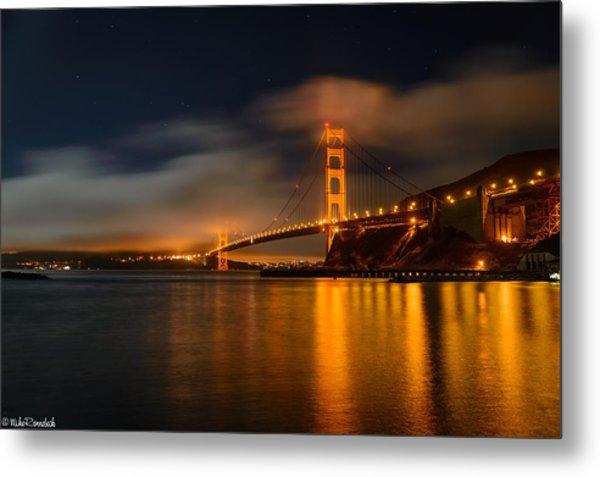 Golden Gate Night Metal Print