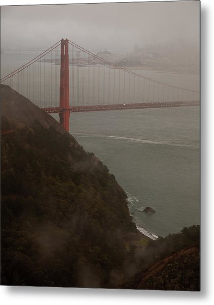 Golden Gate On A Grey Day Metal Print by Patrick  Flynn