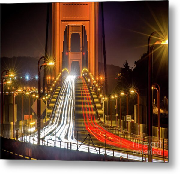 Golden Gate Traffic Metal Print