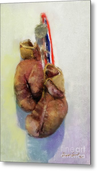 Metal Print featuring the digital art Golden Gloves by Dwayne Glapion