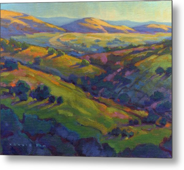Metal Print featuring the painting Golden Hills by Konnie Kim