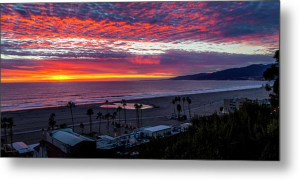Golden Horizon At Sunset -  Panorama Metal Print