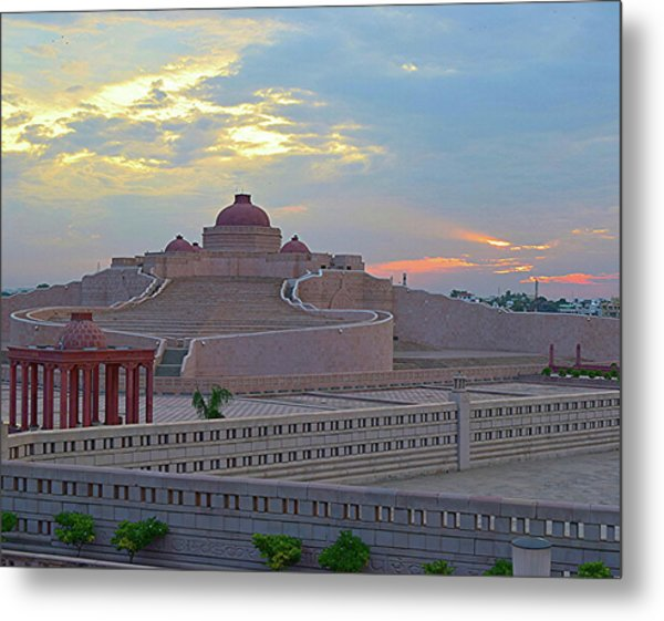 Golden Hour At Ambedkar Park Metal Print
