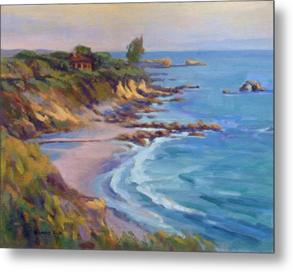 Metal Print featuring the painting Golden Hour At Corona Del Mar by Konnie Kim