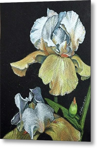Golden Iris Metal Print