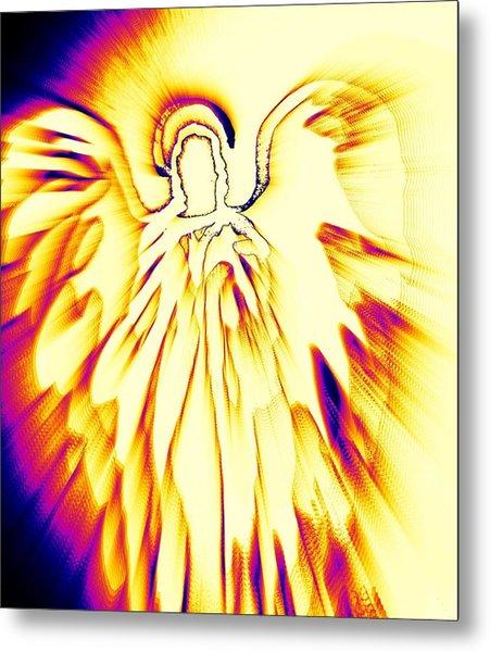 Golden Light Angel Metal Print