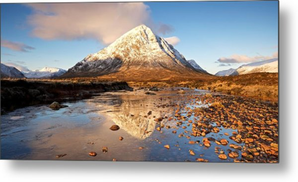 Golden Light In Glencoe Metal Print