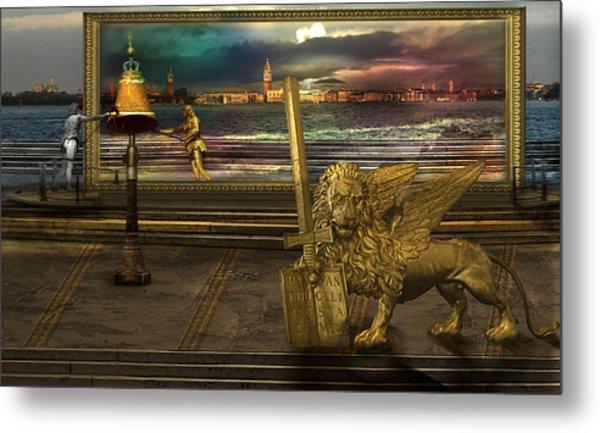 Golden Lion From Alternative Earth Metal Print by Desislava Draganova