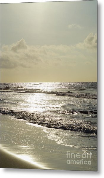 Golden Morning At Folly Metal Print