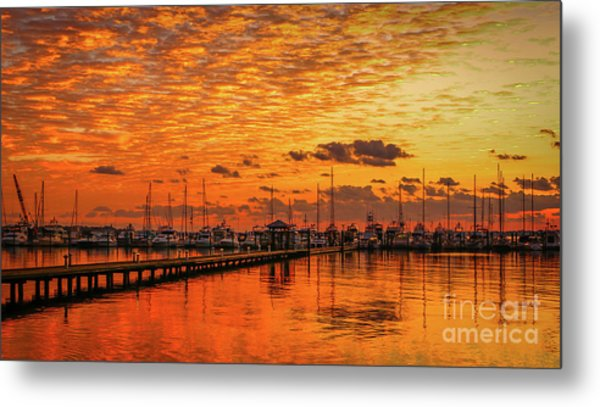 Golden Orange Sunrise Metal Print