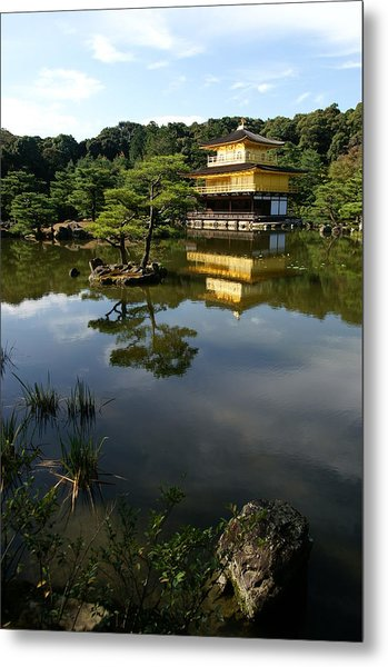 Golden Pavilion In Kyoto Metal Print by Jessica Rose