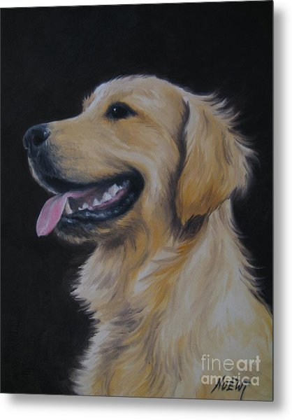 Golden Retriever Nr. 3 Metal Print