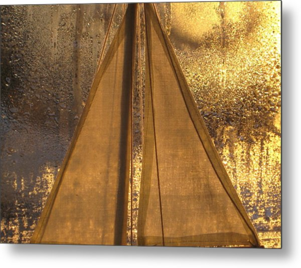 Golden Sails Metal Print by Lori  Secouler-Beaudry