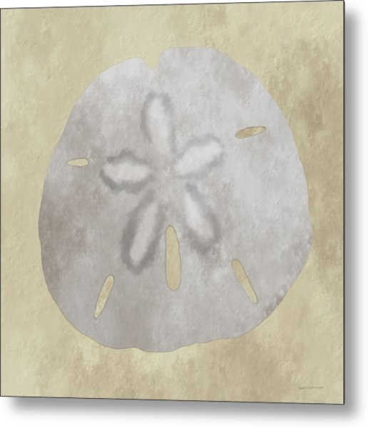 Golden Sandy Dollar Metal Print