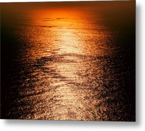 Golden Sea In Alanya Metal Print