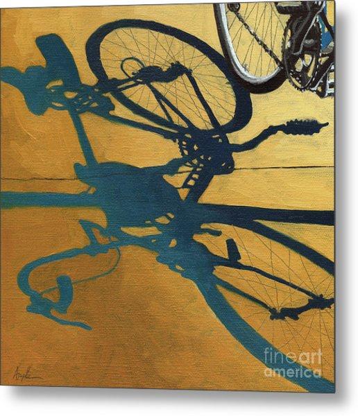 Golden Shadows - Wheels Metal Print