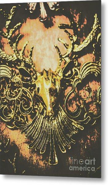 Golden Stag Metal Print