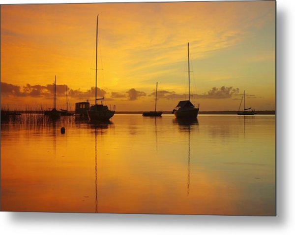 Golden Sunrise At Boreen Point Metal Print