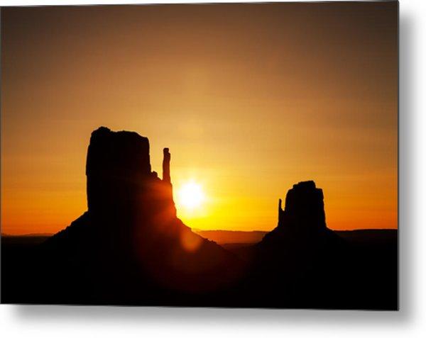 Golden Sunrise In Monument Valley National Park Metal Print by Susan Schmitz