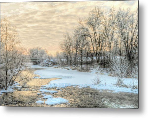 Golden Sunrise Signed Metal Print