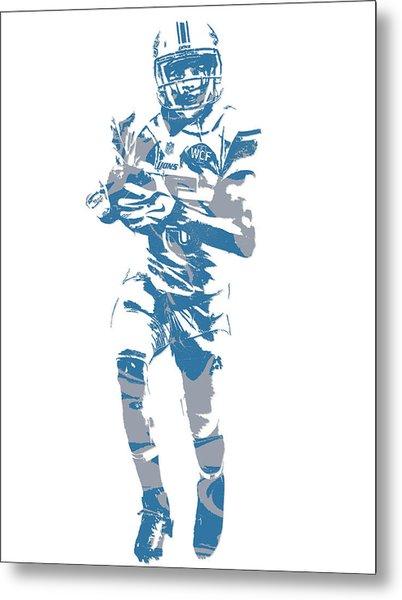 Golden Tate Detroit Lions Pixel Art 4 Metal Print