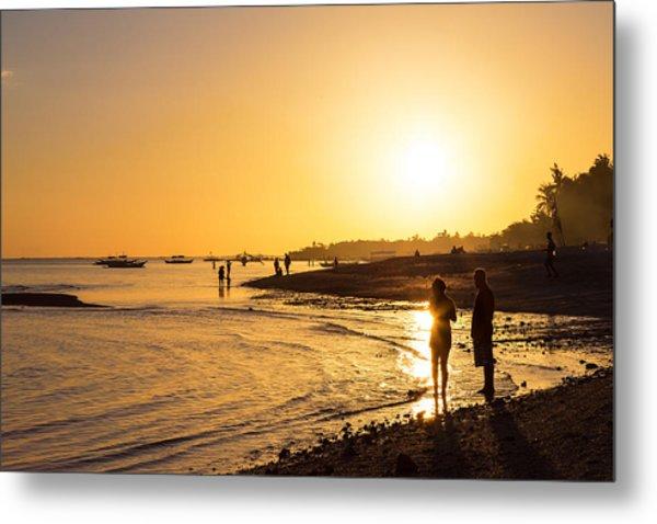 Golden Tropics Hot Beach Sun Metal Print