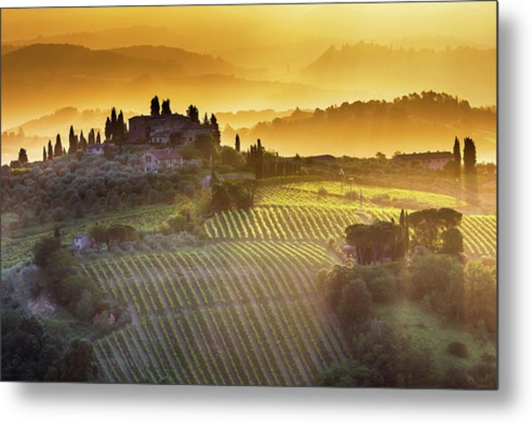 Golden Tuscany Metal Print
