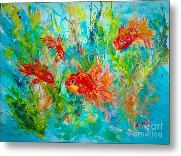 Goldfish Aquarium Metal Print