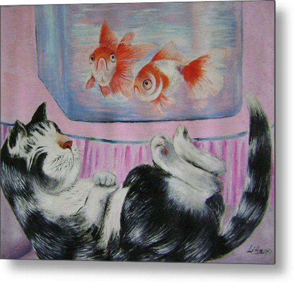 Goldfish Dream Metal Print by Lian Zhen