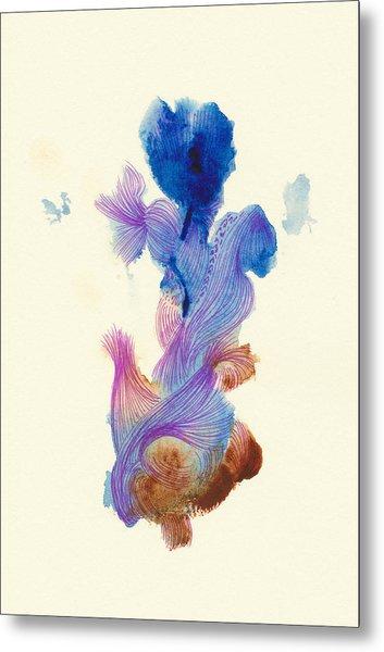 Goldfish- #ss14dw031 Metal Print by Satomi Sugimoto