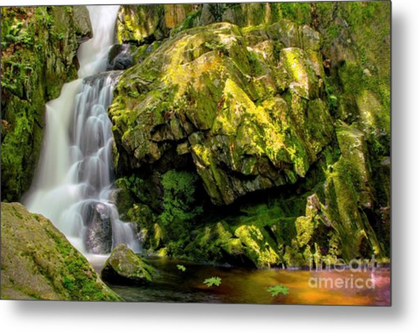 Goldmine Brook Falls Chester Ma Metal Print