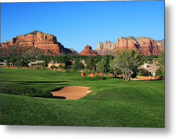 Golf In Paradise Metal Print