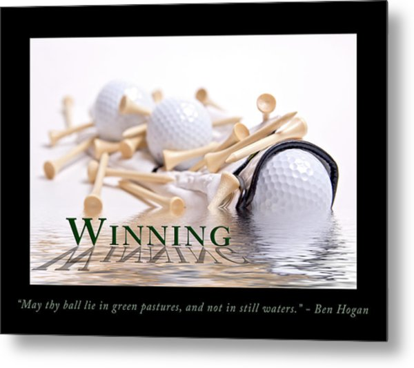 Golf Motivational Poster Metal Print