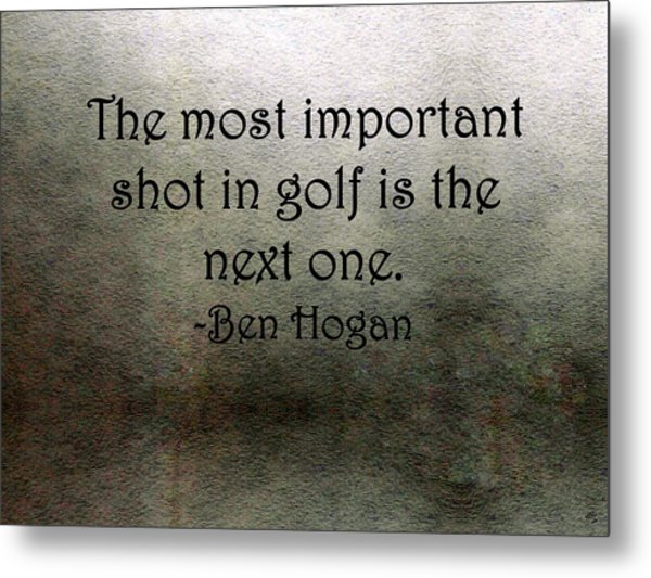 Golf Quote Metal Print