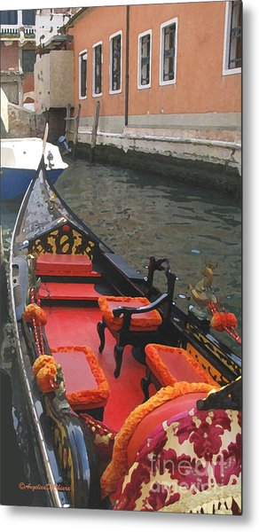 Gondola Rossa Venice Italy Metal Print