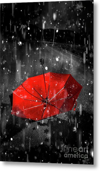 Gone With The Rain Metal Print