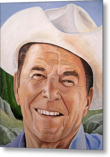 Good Guys Wear White Hats Metal Print by Kenneth Kelsoe