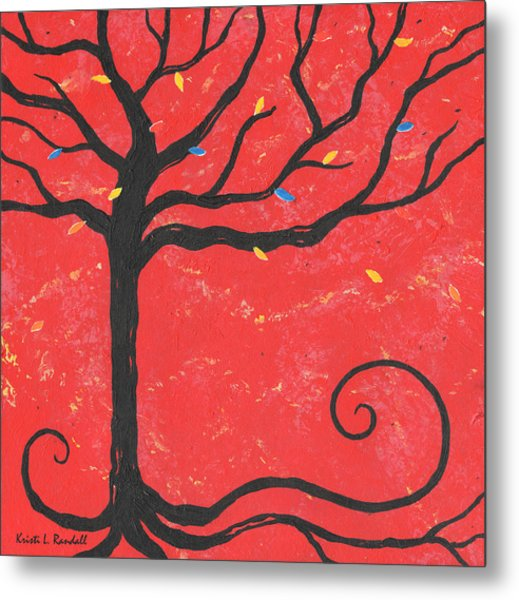 Good Luck Tree - Left Metal Print by Kristi L Randall