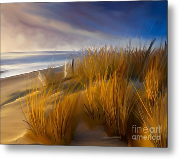 Good Morning Beach Day Metal Print