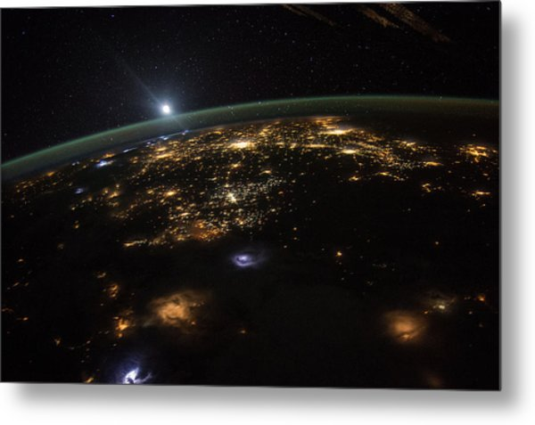 Good Morning From The International Space Station Metal Print