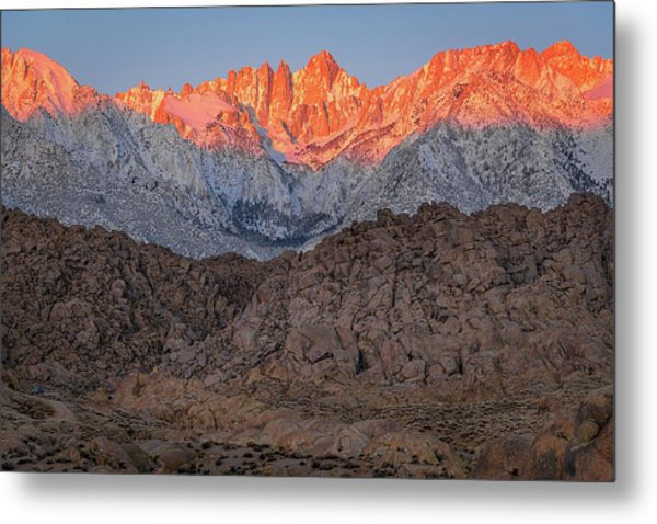 Good Morning Mount Whitney Metal Print