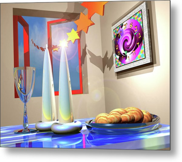 Good Shabbos Metal Print